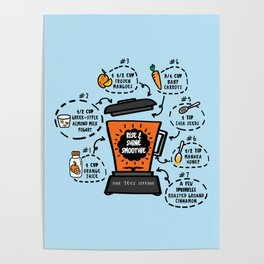 Rise and Shine Smoothie Recipe Poster