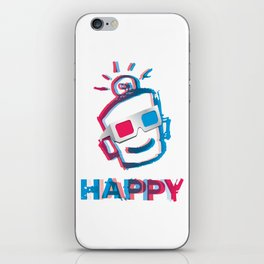 3D HAPPY iPhone Skin
