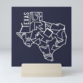 Texas Strong (Dark Blue) Mini Art Print