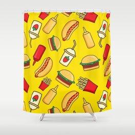 tasty food Shower Curtain
