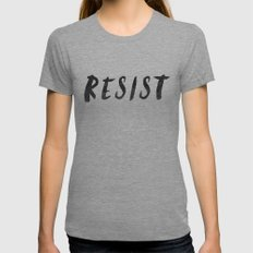 RESIST 4.0  #resistance X-LARGE Womens Fitted Tee Tri-Grey
