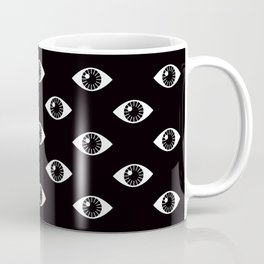 EYES WIDE OPEN ON BLACK Coffee Mug