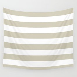 Beach Sand and White Stripes Wall Tapestry