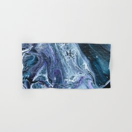 Waves - Original Abstract Acrylic Pour Painting Art Hand & Bath Towel