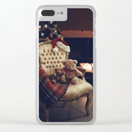 Teddies At Christmas Clear iPhone Case