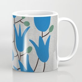 Blue Bell – Scandinavian folk art - Blue Bell Floral Coffee Mug