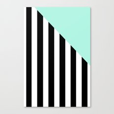 Triangle Stripes (Mint) Canvas Print