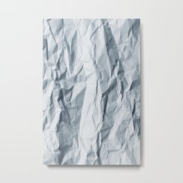 Pattern - Wrinkled paper Metal Print