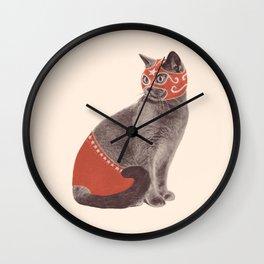 Cat Wrestler Wall Clock