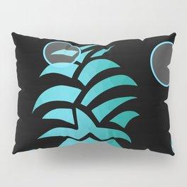 Tropical Blue And Black Pillow Sham