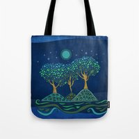 once upon a  time Tote Bags featuring Once upon a time... by Viviana Gonzalez