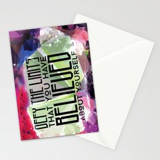 Defy the Limits You Have Believed About Yourself Stationery Cards