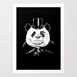 classy panda Art Print