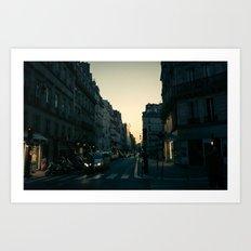 Paris, quartier de la Concorde at Dawn Art Print