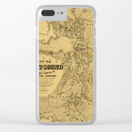 Map of Puget Sound 1877 Clear iPhone Case