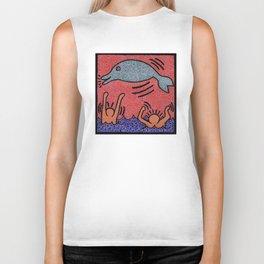 Keith Haring Dolphin Biker Tank