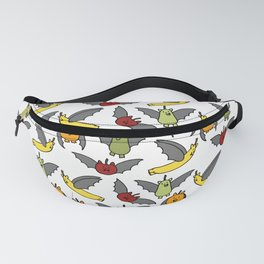 Fruit Bats | Animals | Play on Words | Halloween | Bats Pattern Fanny Pack