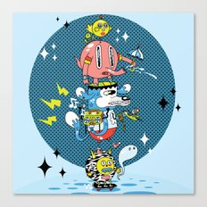 Skate Squad Canvas Print