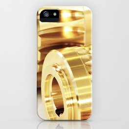 Wormwheels close up view iPhone Case