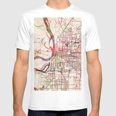 Memphis 2X-LARGE Mens Fitted Tee White