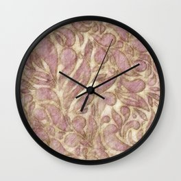 Abstract leaves - game with lines Wall Clock