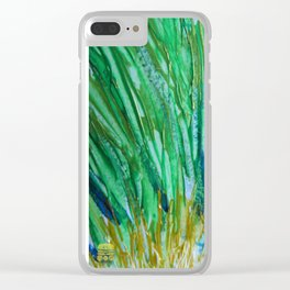 Green 01 Clear iPhone Case