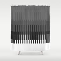 glitch Shower Curtains featuring Glitch by Emilio Bello