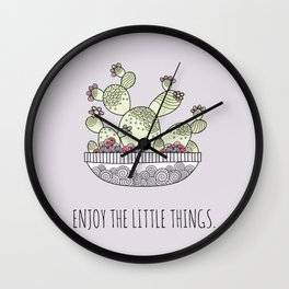 Enjoy the Little Things Lilac Wall Clock