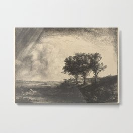 The Three Trees Metal Print