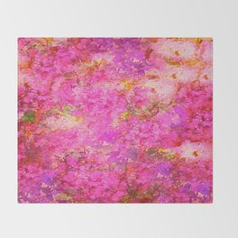 Pink and Red Vintages Roses So Shabby Chic Throw Blanket