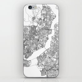 Istanbul White Map iPhone Skin