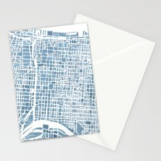 Philadelphia City Map Stationery Cards