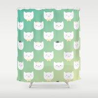 kitten Shower Curtains featuring Kitten by Milli-Jane