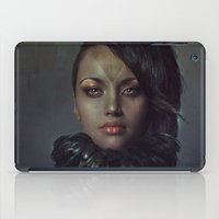 raven iPad Cases featuring Raven by Flo Tucci
