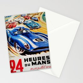Le Mans poster, 1956, race poster, t shirt Stationery Cards