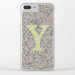 """Y"" Eye Test Letter Full Clear iPhone Case"