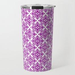 Damask (Purple & White Pattern) Travel Mug