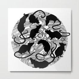 Rats Nest (White) Metal Print