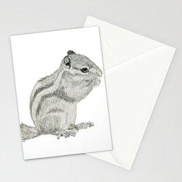 Munching Chipmunk Stationery Cards