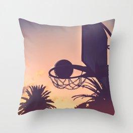 basketball hoop 1 Throw Pillow