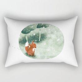 Fox in the snow Rectangular Pillow
