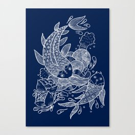 The Koi Fishes Canvas Print