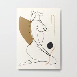 abstract nude 3 Metal Print