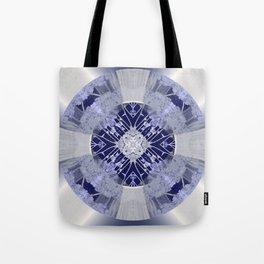 Microchip Mandala in Purple Tote Bag