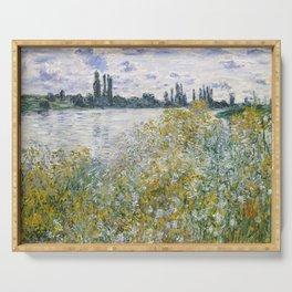 Claude Monet Île aux Fleurs near Vétheuil Serving Tray