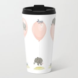 Elephant, globe and mouse Travel Mug