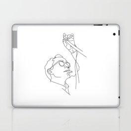 Jean-Luc Godard minimal line drawing Laptop & iPad Skin
