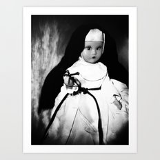 Storybook Nun  Art Print