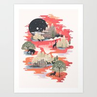 dreams Art Prints featuring Landscape of Dreams by dan elijah g. fajardo