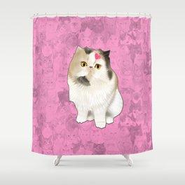Cherry_the_flat_face_princess Shower Curtain